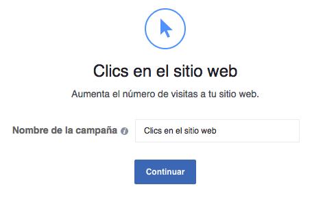 Clics en el sitio web