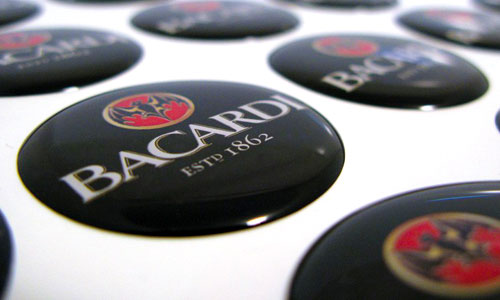 Bacardi Domed Emblems