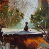 « El gato bajo la lluvia », la narración bajo el agua