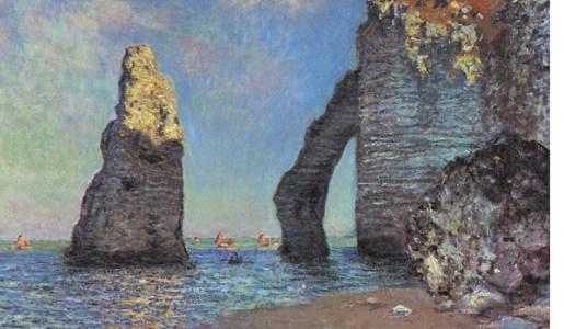 The Cliffs at Etretat (1885) de Claude Monet