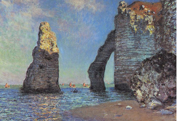 The Cliffs at Etretat (1885) de Claude Monet