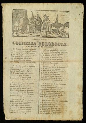 Impresión de las canciones de Cornelia Bororquia