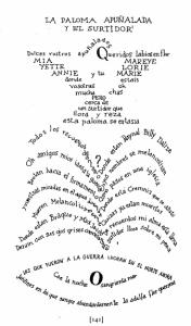 La paloma apuñalada y el surtidor, de Guillaume Apollinaire.