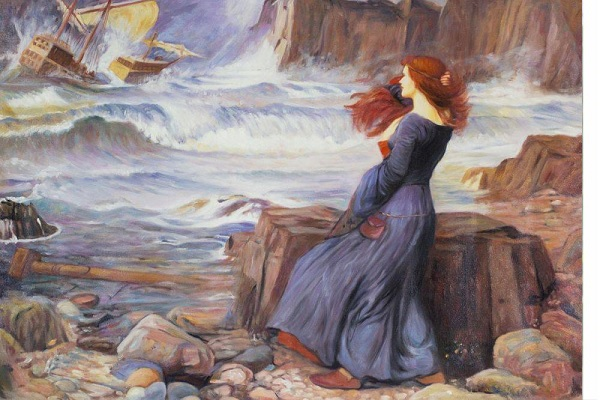 Miranda. The Tempest(1916) of John William Waterhouse