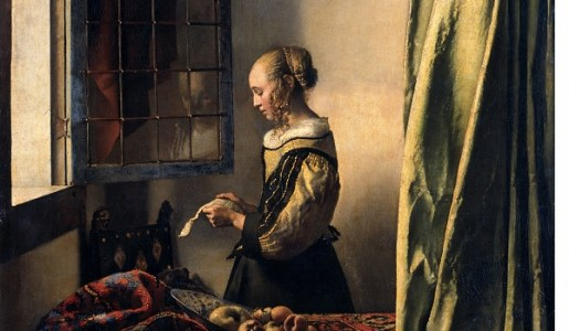 Girl reading a letter de Johannes Vermeer