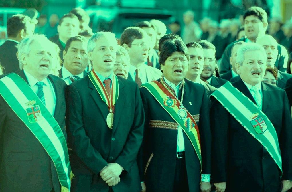 Evo-Morales-Álvaro-García-Linera-Rubén-Costas-Percy-Fernández-Plaza-24-de-Septiembre-3