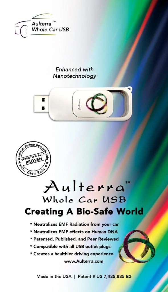 Aulterra package with usb and mobius strip image