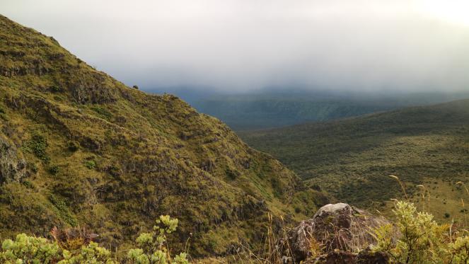 halemau'u trailhead mountain hiking haleakala maui
