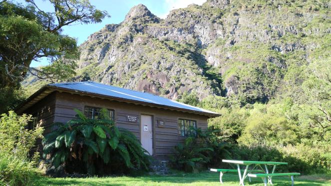paliku cabin haleakala national park backpacking beautiful