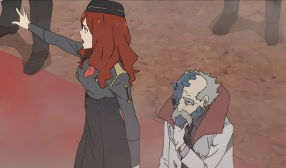 Nana and Dr Franxx. Nana is one of the children's two adult minders.