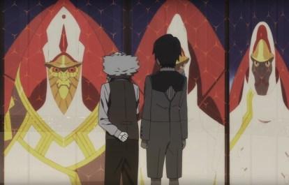Franx and Hiro confront Papa.