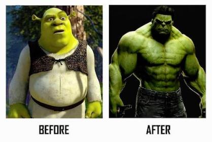 before-after-shrek