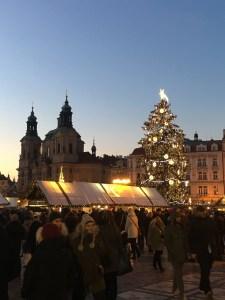 Vanhakaupunki, Staré mesto, Praha, joulutori, kirkot, kaupunkiloma, Pyhän Nikolauksen kirkko
