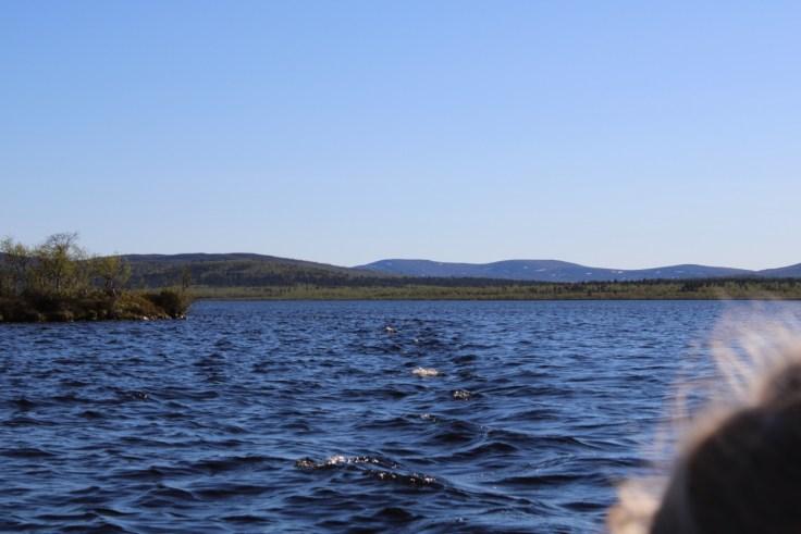 Giellajohka, Lapissa, Aksujärvi, kalassa, kalamatka, lomalla kotimaassa, luonnossa, lasten kanssa