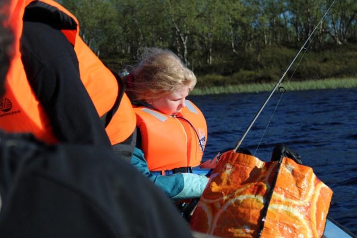 Giellajohka, Aksujärvi, Lappi, lasten kanssa, kalastusmatka, luonnossa