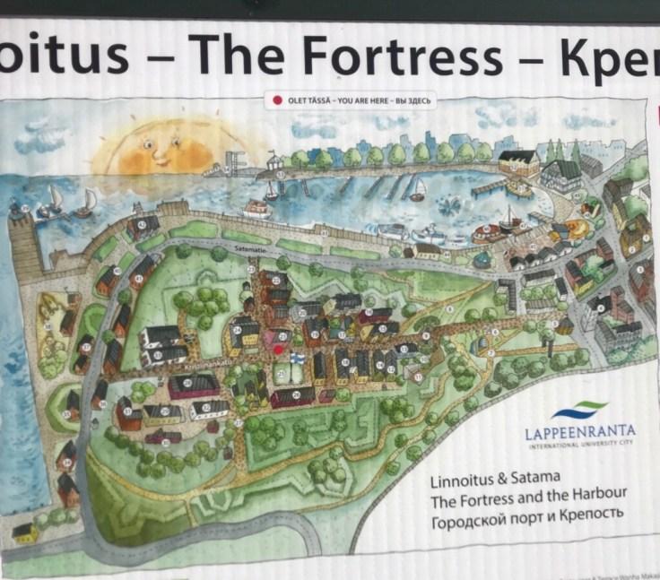 Linnoitus, Lappeenranta, lomalla kotimaassa, kartta, Visit Lappeenranta