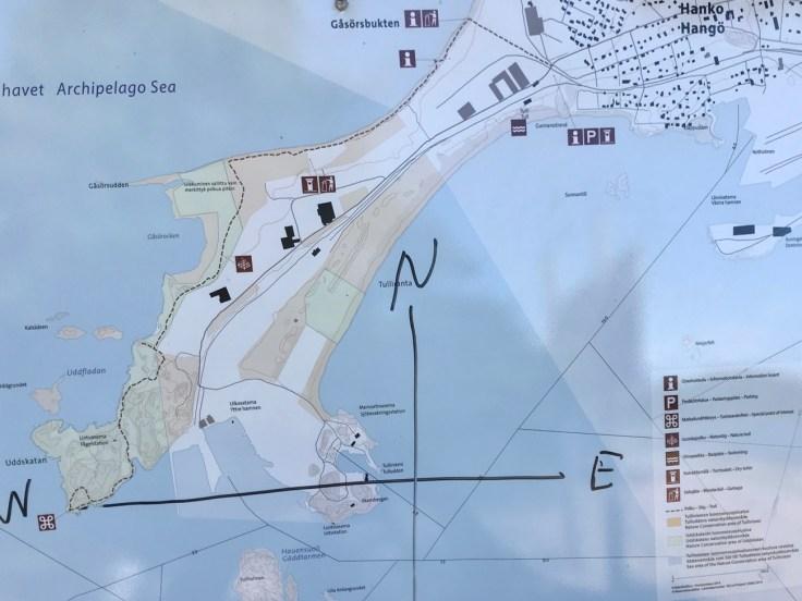 Luontopolku, Hanko, Tulliniemi, reitti, kartta, retkellä