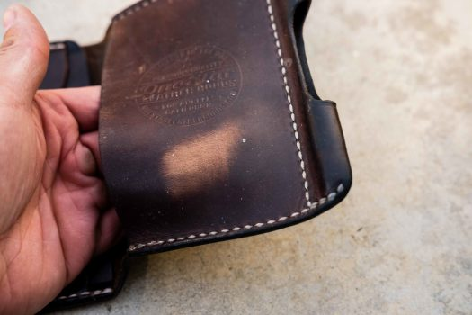 Pull-up leather quality on the Horween Natural CXL