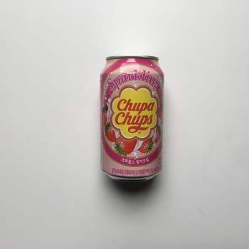 Chupa Chups Sparkling Soda Strawberry 345ml From Auntie ammies american Candy Shop