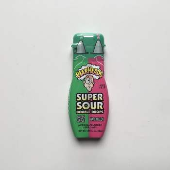 Warheads Super Sour Double Drops Liquid Candy Watermelon/Green Apple From Auntie Ammies American Candy Shop