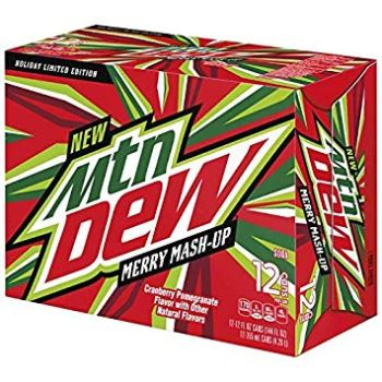 Mountain Dew merry Mash up 355ml fridgepack From Auntie ammies american Candy Shop