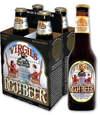 Virgil's Root beer 355ml (4 pack) From Auntie Ammies Candy Shop