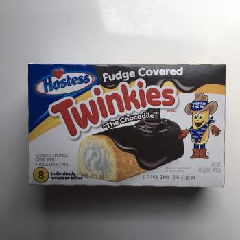"Hostess Fudge Covered ""The Chocodile"" Twinkies 8-Pack - 15.23oz (432g) From Auntie Ammies American Candy Shop"