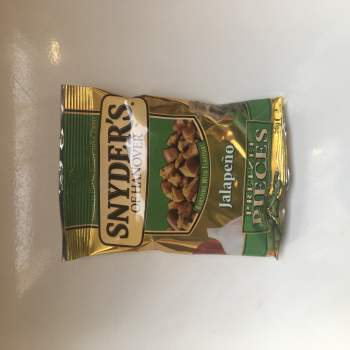Snyders Jalapeno Pretzel Pieces (56g) From Auntie ammies American Candy Shop