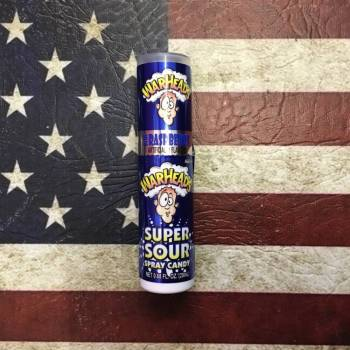 Warheads super Sour Spray Candy Blue Raspberry American foods From Auntie Ammies Candy Shop