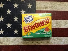 Juicy Fruit Starburst Watermelon Juicy Fruit Starburst Watermelon. From Auntie Ammies Candy shop