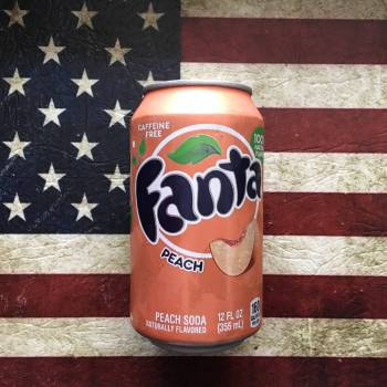 Fanta Peach 355ml Can From Auntie Ammies Candy Shop
