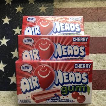Airheads Gum Cherry Flavour with Micro Candies from Auntie Ammies Candy Shop