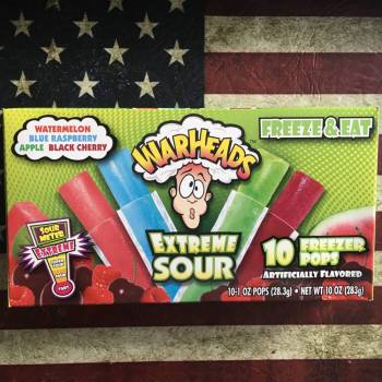 Warheads Extreme Sour Freezer pops (283g) From Auntie Ammies Candy shop