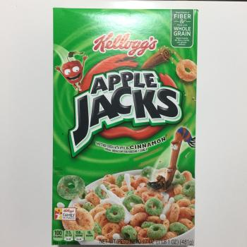 Kellog's Apple Jacks American breakfast