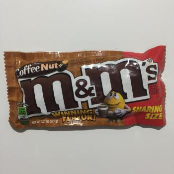 Coffee Nut M&M's Sharing size American candy