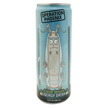 Rick & Morty Operation Phoenix Clone Serum Energy Drink - 12fl.oz (355ml) from auntie Ammies American Candy Shop