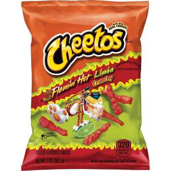 Cheetos Crunchy Flamin' Hot 2 oz 56.7g fromAuntie Ammies American Candy Shop