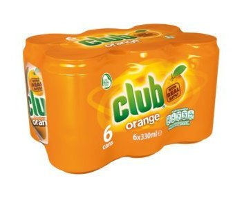 Club Orange Soda 330ml (6 pack)