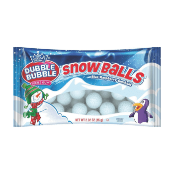 Dubble Bubble Blue Raspberry Snowballs - 2.32oz (65g) from Auntie ammies American candy Shop