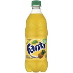 Fanta Pineapple Bottle 591ml from auntie jammies American candy shop