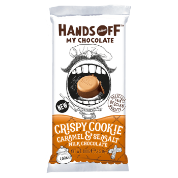 Hands Off My Chocolate - Crispy Cookie Caramel & Sea Salt Milk Chocolate - 3.5oz (100g)