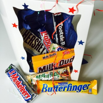 Awesome american gift box from Auntie Ammie's American Candy store UK