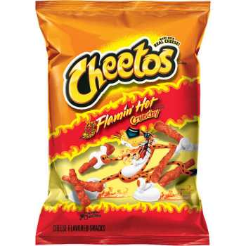 Cheetos Crunchy Flamin' Hot 2 oz 56.7g (BBAug 11)