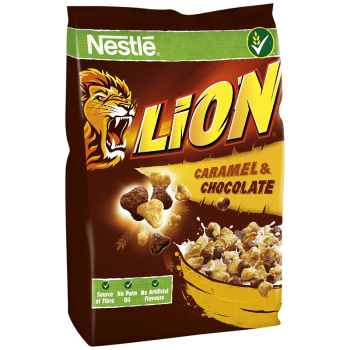 Nestle Lion Caramel & Chocolate Cereal - 250g from Auntie |ammies American Candy Shop