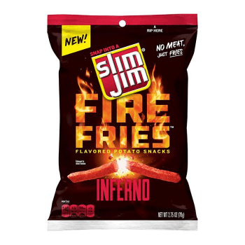 Slim Jims Fire Fries Inferno Potato Snacks - 2.75oz (78g) from Auntie Ammies American Candy shop