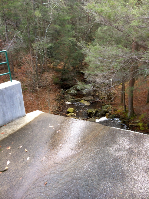 atop the green fall dam