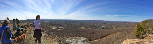 panorama view from cliffs