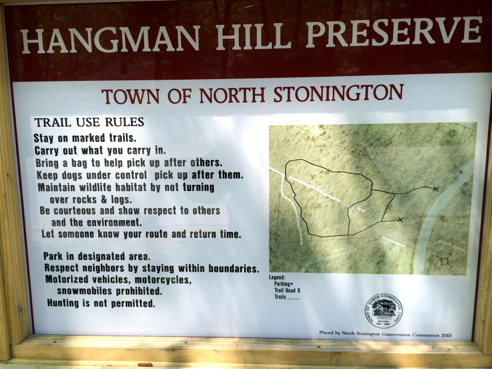 hangman hill preserve sign