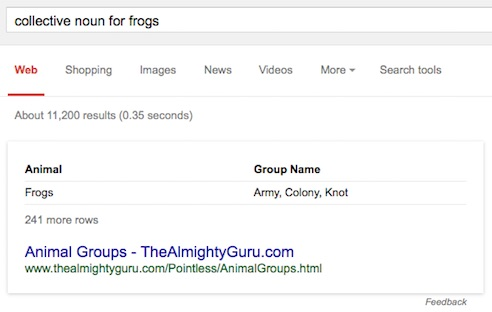 we ask mr. google