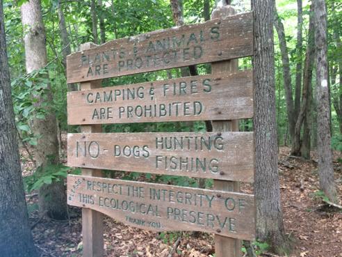 Preserve Trailhead Sign